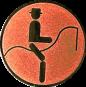 Emblem 25mm Dressurreiter Symbol, bronze