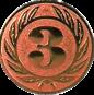 Emblem 25 mm Ehrenkranz mit 3, bronze
