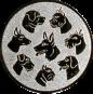 Emblem 25mm Hunderassen, silber