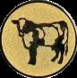 Emblem 25mm Kuh, gold