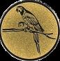 Emblem 25mm Papagei, gold