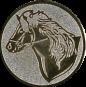 Emblem 25mm Pferd, silber