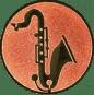 Emblem 25mm Saxophone, bronze