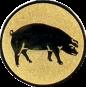 Emblem 25mm Schwein, gold