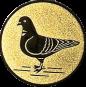 Emblem 25mm Taube links, gold