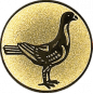 Emblem 25mm Taube rechts, gold