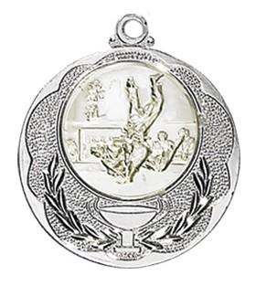 """Medaille """"Knossos"""" Ø 40mm mit Wunschemblem und Band silber"""