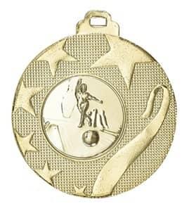 """Medaille """"Olynth"""" Ø 40mm mit Wunschemblem und Band gold"""