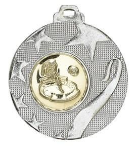 """Medaille """"Olynth"""" Ø 40mm mit Wunschemblem und Band silber"""