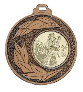 """Medaille """"Sunion"""" Ø 50mm mit Wunschemblem und Band bronze"""