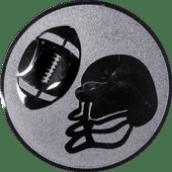 Emblem 25mm Football, silber