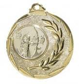 """Medaille """"Cava"""" Ø 50mm mit Wunschemblem und Band gold"""