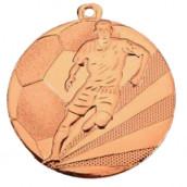 """Medaille """"Fußball"""" Ø 50mm mit Band bronze"""