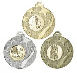 """Medaille """"Olynth"""" Ø 40mm mit Wunschemblem und Band"""