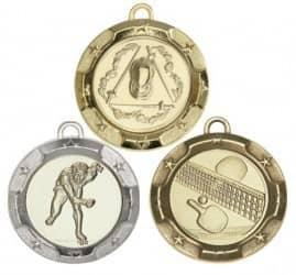 """Medaille """"Rhodos"""" Ø 70mm mit Wunschemblem und Band"""