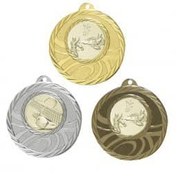 """Medaille """"Brindis"""" Ø 50mm mit Wunschemblem und Band"""