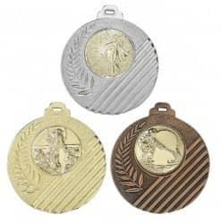 """Medaille """"Capua"""" Ø 50mm mit Wunschemblem und Band"""