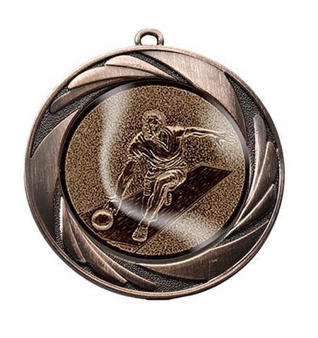 """Medaille """"Argos"""" Ø 70mm mit Wunschemblem und Band bronze"""