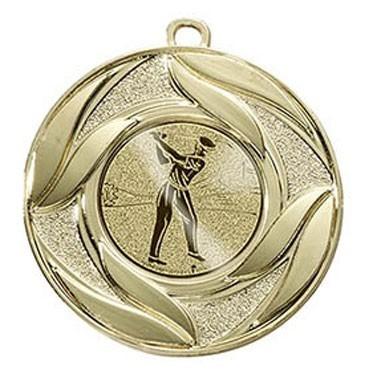 """Medaille """"Abdera"""" Ø 50 mm  inkl. Wunschemblem und Kordel gold"""