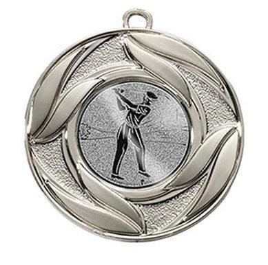 """Medaille """"Abdera"""" Ø 50 mm  inkl. Wunschemblem und Kordel silber"""
