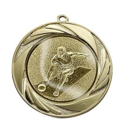 """Medaille """"Argos"""" Ø 70mm mit Wunschemblem und Band gold"""
