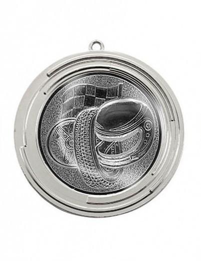 "Medaille ""Delos"" Ø 70 mm inkl. Wunschemblem und Kordel silber"