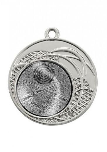 "Medaille ""Dion"" Ø 40 mm inkl. Wunschemblem und Kordel silber"