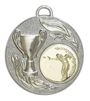 """Medaille """"Falerie"""" Ø 50mm mit Wunschemblem und Band silber"""