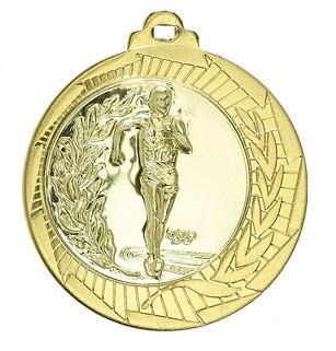 """Medaille """"Lindos"""" Ø 70mm mit Wunschemblem und Band gold"""