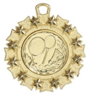 """Medaille """"Pella"""" Ø 45mm mit Wunschemblem und Band gold"""