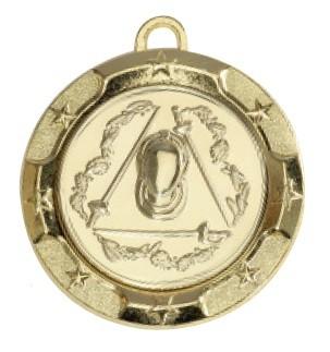 """Medaille """"Rhodos"""" Ø 70mm mit Wunschemblem und Band gold"""