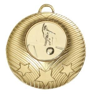 """Medaille """"Theben"""" Ø 50mm mit Wunschemblem und Band gold"""