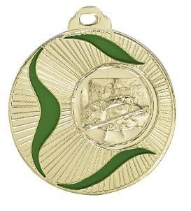 """Medaille """"Adria"""" Ø 50mm mit Wunschemblem und Band gold"""