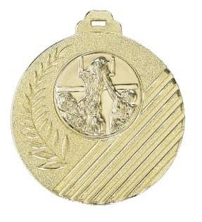 """Medaille """"Capua"""" Ø 50mm mit Wunschemblem und Band gold"""