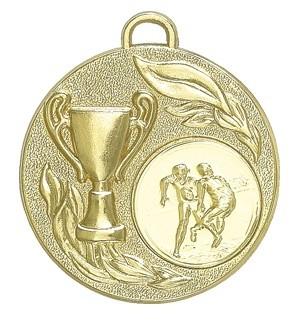 """Medaille """"Falerie"""" Ø 50mm mit Wunschemblem und Band gold"""