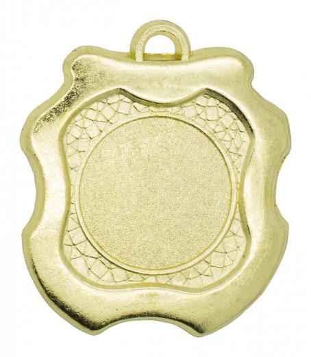 """Medaille """"Kamiros"""" Ø 45mm mit Wunschemblem und Band gold"""