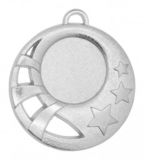 """Medaille """"Sparta"""" Ø 50mm mit Wunschemblem und Band silber"""