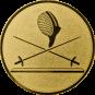 Emblem 25 mm 2 Florette Und Maske, gold