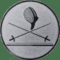 Emblem 25 mm 2 Florette Und Maske, silber