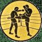 Emblem 25 mm 2 Kickboxer, gold