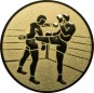 Emblem 25 mm 2 Kickboxer, gold