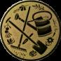 Emblem 25 mm Garten, gold