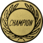 Emblem 25 mm Kranz CHAMPION, gold