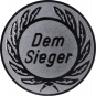 Emblem 25 mm Kranz Dem Sieger, silber