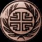 Emblem 25 mm Kranz Frisch From Fröhlich Frei, bronze