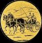Emblem 25 mm Kutsche, gold
