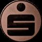 Emblem 25 mm Sparkasse, bronze