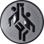 Emblem 25mm 2 Basketballer, silber