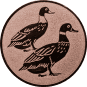 Emblem 25mm 2 Enten, bronze