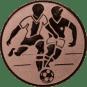 Emblem 25mm 2 Fußballer, bronze